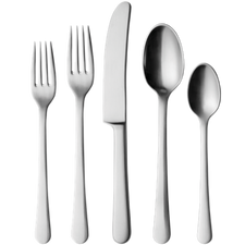 Georg jensen Copenhagen 5 pcs cutlery, Steel mat