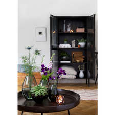 Holmegaard Cocoon Vase, smoke, H 45 cm