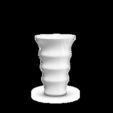 Holmegaard Karen Blixen Vase, white, H 23 cm