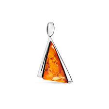 House of Amber - PENDANT SILVER W/AMBER 25x17 MM