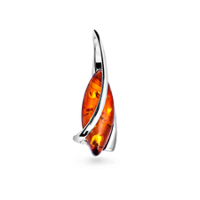 House of Amber - PENDANT SILVER W/AMBER 31x12MM
