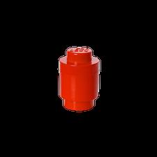 LEGO Storage Brick 1 Round RED
