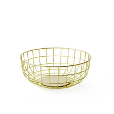 MENU - Wire Bowl, Brass