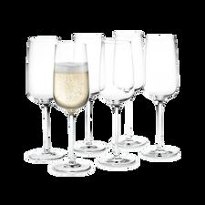 Holmegaard Bouquet Champagne glass, 6 pcs., 29 cl