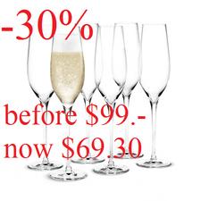 Holmegaard Cabernet Champagne Flute (6 Pcs.)