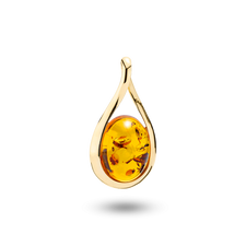 House of Amber - Infinity PENDANT 14KT W/AMBER 20x15 MM
