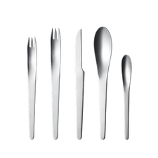 Georg Jensen Arne Jacobsen, 5pcs Cutlery Steel mat