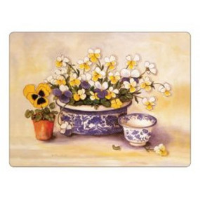 Small Placemats Pansies & Violas