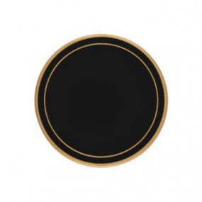 Lady Clare Round Coasters Black Screened