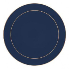 Lady Clare Round Placemats Oxford Blue Screened
