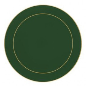 Lady Clare Round Placemats Bottle Green Screened