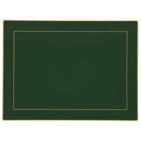 Lady Clare Continental Placemats Bottle Green Screened