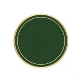 Lady Clare Round Coasters Bottle Green Screened