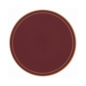 Lady Clare Round Tablemats Regal Red Screened