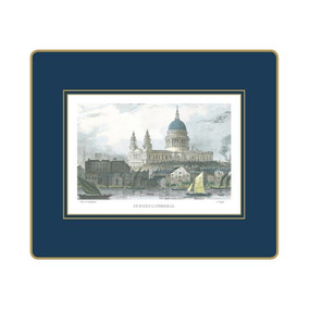 Lady Clare Tablemats Shepherd's London - Oxford Blue