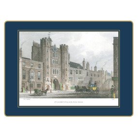Lady Clare Continental Placemats Shepherd's London - Oxford Blue