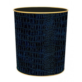 Textured Waste Bin Blue Croc - Lady Clare Placemats