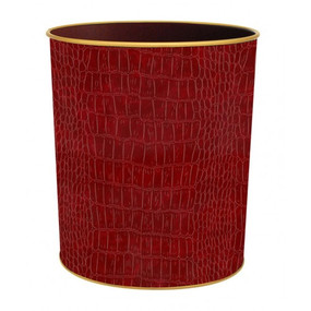 Textured Waste Bin Burgundy Croc  - Lady Clare Placemats