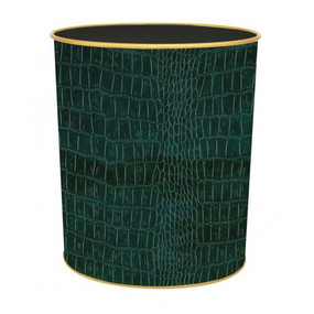 Textured Waste Bin Green Croc - Lady Clare Placemats