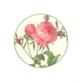 Lady Clare Round Coasters Redoute Roses