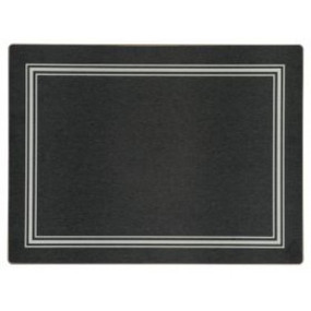 Lady Clare Continental Placemats Black w/ Silver Melamine