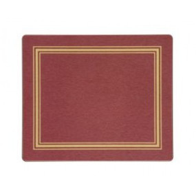 Tablemats Red/Gold Melamine - Hospitality Mats - Set of 10