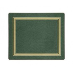 Tablemats Green/Gold Melamine - Hospitality Mats - Set of 10
