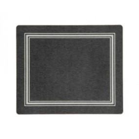 Tablemats Black/Silver Melamine - Hospitality Mats - Set of 10