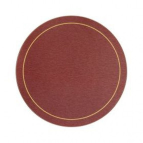 Round Tablemats Red/Gold Melamine - Hospitality Mats - Set of 10