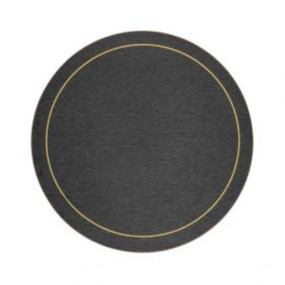 Round Tablemats Blue/Gold Melamine - Hospitality Mats - Set of 10