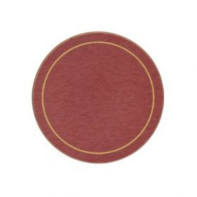 Round Coasters Red/Gold Melamine - Hospitality Mats - Set of 10