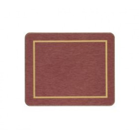 Coasters Red/Gold Melamine - Hospitality Mats - Set of 10