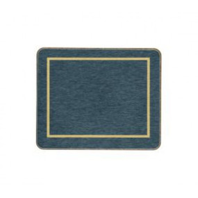 Coasters Blue/Gold Melamine - Hospitality Mats - Set of 10