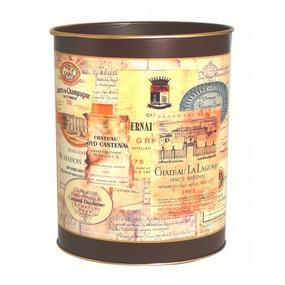 Waste Paper Bin Chateau Labels