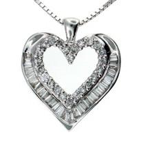 14kt G Color Diamond Heart Pendant