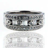 14kt Diamond Cluster Ring in White Gold
