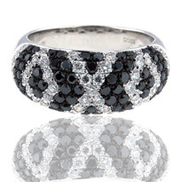 18kt Black Diamond Cluster Ring