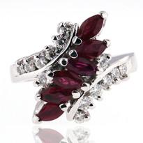 14kt White Gold Ruby Diamond Ring