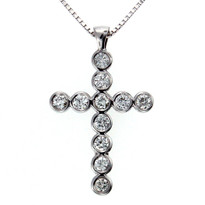 Diamond Cross in 14kt White Gold