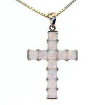 14kt Yellow Gold Opal Cross