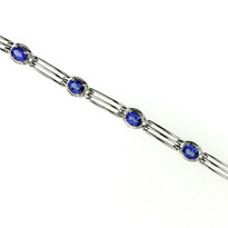 14kt White Gold Tanzanite Bracelet