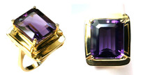 14kt Yellow Gold 9.7ct Amethyst Ring