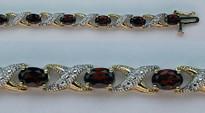 14kt Yellow Gold Garnet Bracelet with 10.6ct Garnet