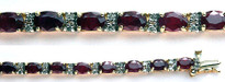 14k Yellow Gold Ruby Tennis Bracelet with 21 Rubies