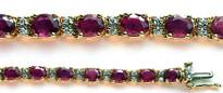 22 Stone Ruby and Diamond Bracelet set in 14k Gold
