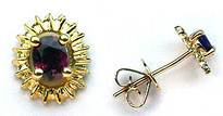 Ruby Studs set in Yellow Gold