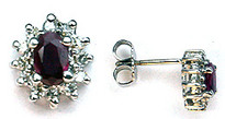 14k Ruby Studs with Diamonds