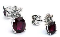 18k Ruby studs with 12 Diamonds