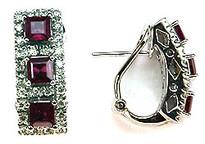 Ruby & Diamond Clip Earrings