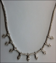 "17"" 3.55ct Diamond Necklace 18k White Gold"